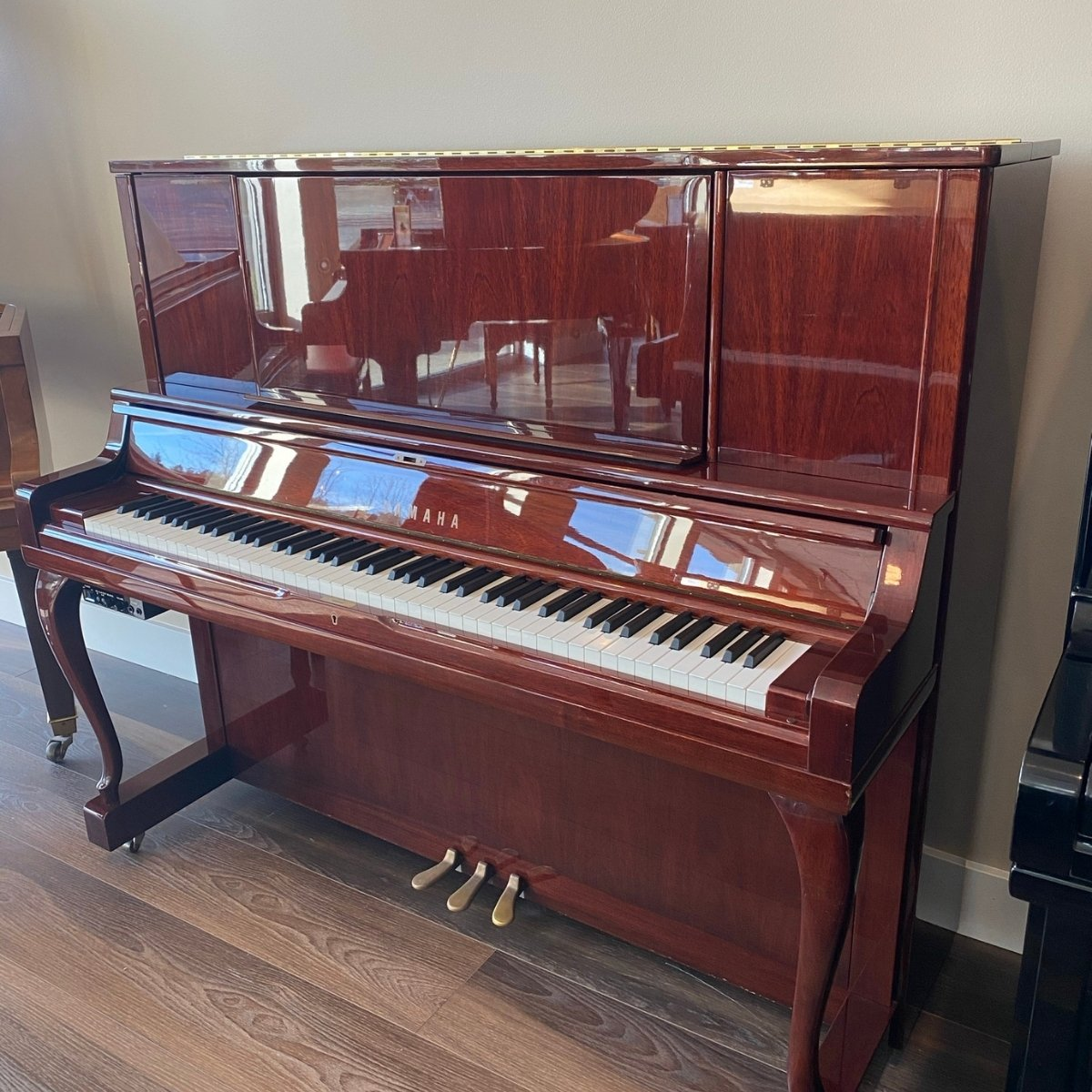 Yamaha 52 Model YUS 5 MhC Upright Hybrid Piano