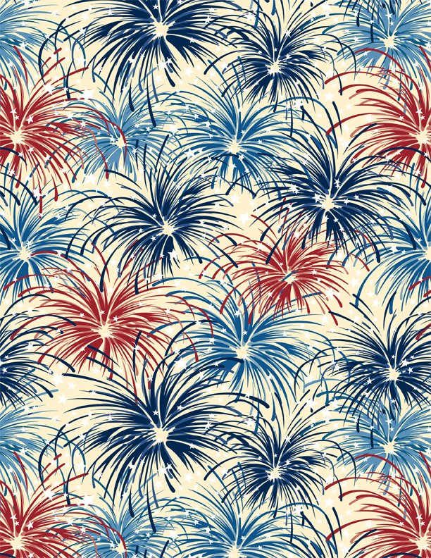 American Valor Tan Fireworks Yardage  SKU# 84432-234