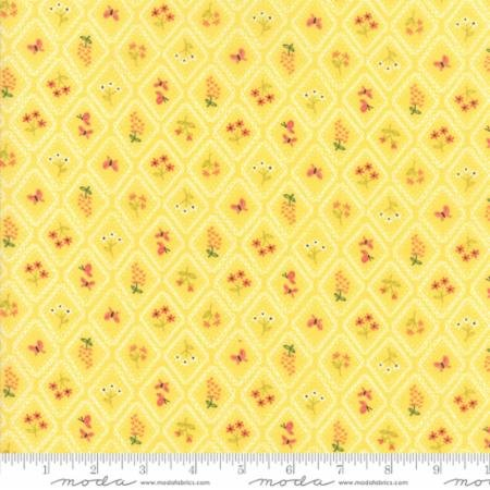 Home Sweet Home Yellow Garden Cameo Wallpaper Yardage Sku