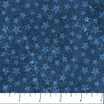Northcott  Stonehenge Stars and Stripes VII - Blue Stars 20160-49