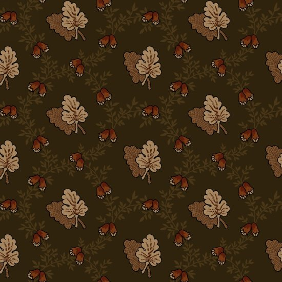Pumpkin Farm Forest Oak Leaf Toss Yardage SKU# 2059-66