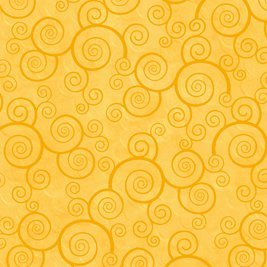 Curly Scroll in Sunflower by Quilting Treasures 24778-S
