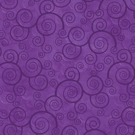 Curly Scroll in Pansy by Quilting Treasures 24778-V