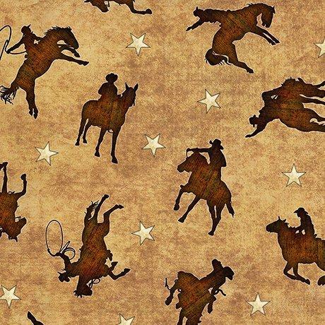 Mustang Sunset 1649-26487-A Stripe - Brown