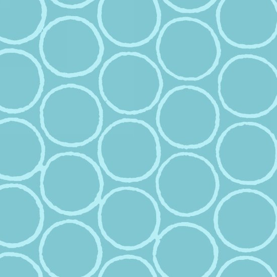 Modern Batiks - Circles in Light Blue - 3761-16
