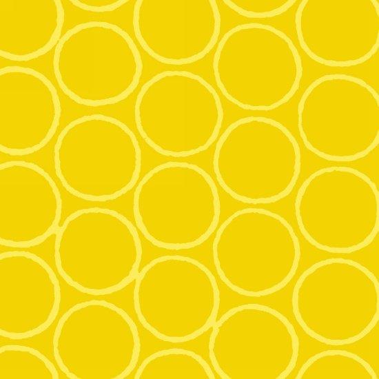 Modern Batiks - Circles in Yellow - 3761-44