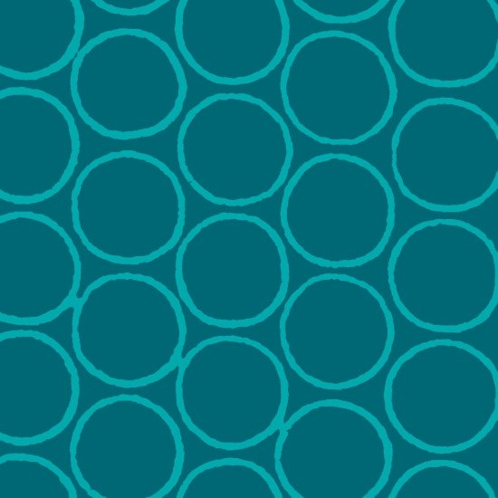 Modern Batiks - Circles in Teal - 3761-47