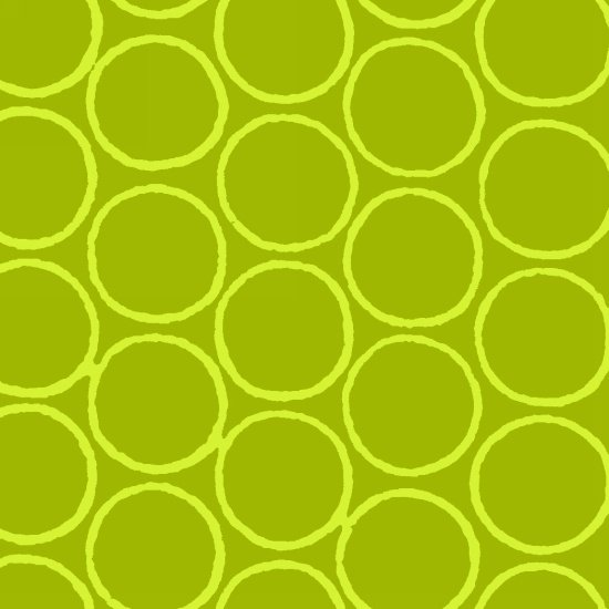 Modern Batiks - Circles in Green - 3761-63