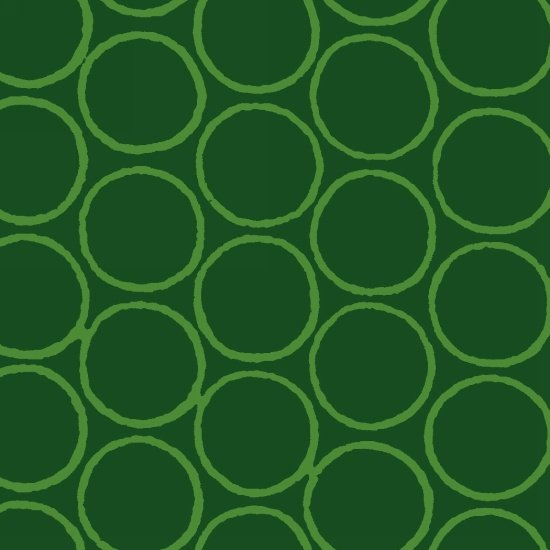 Modern Batiks - Circles in Green - 3761-67