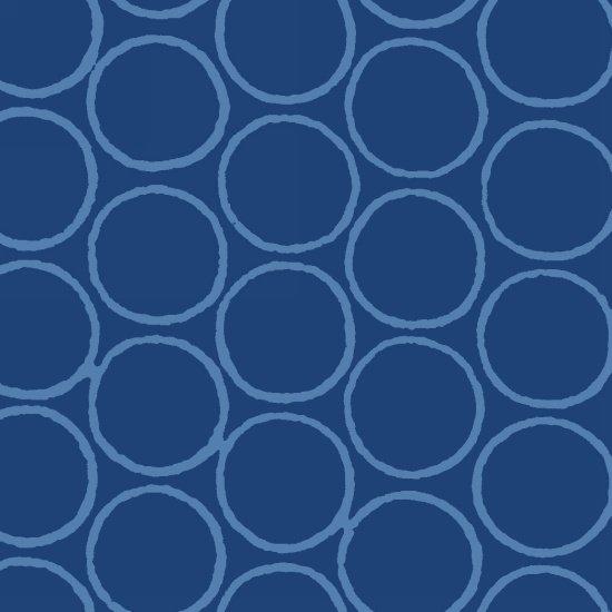 Modern Batiks - Circles in Blue - 3761-71