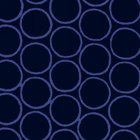 Modern Batiks - Circles in Navy - 3761-79