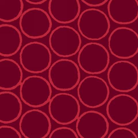 Modern Batiks - Circles in Red - 3761-87