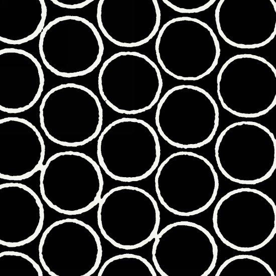 Modern Batiks - Circles in Black - 3761-90