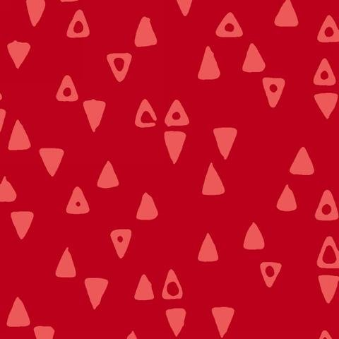 Modern Batiks - Triangles in Red - 3763-88