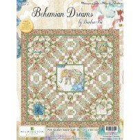 Wilmington Prints Bohemian Dreams by Danhui NAI Pink Quilt Kit 85 by 85 inches