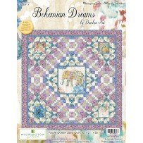 Wilmington Prints Bohemian Dreams by Danhui NAI Purple Quilt Kit 85 by 85 inches