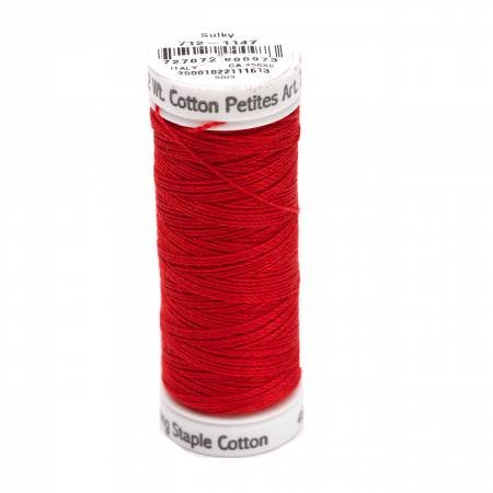 Cotton Thread 2-ply 12wt 50yds Christmas Red