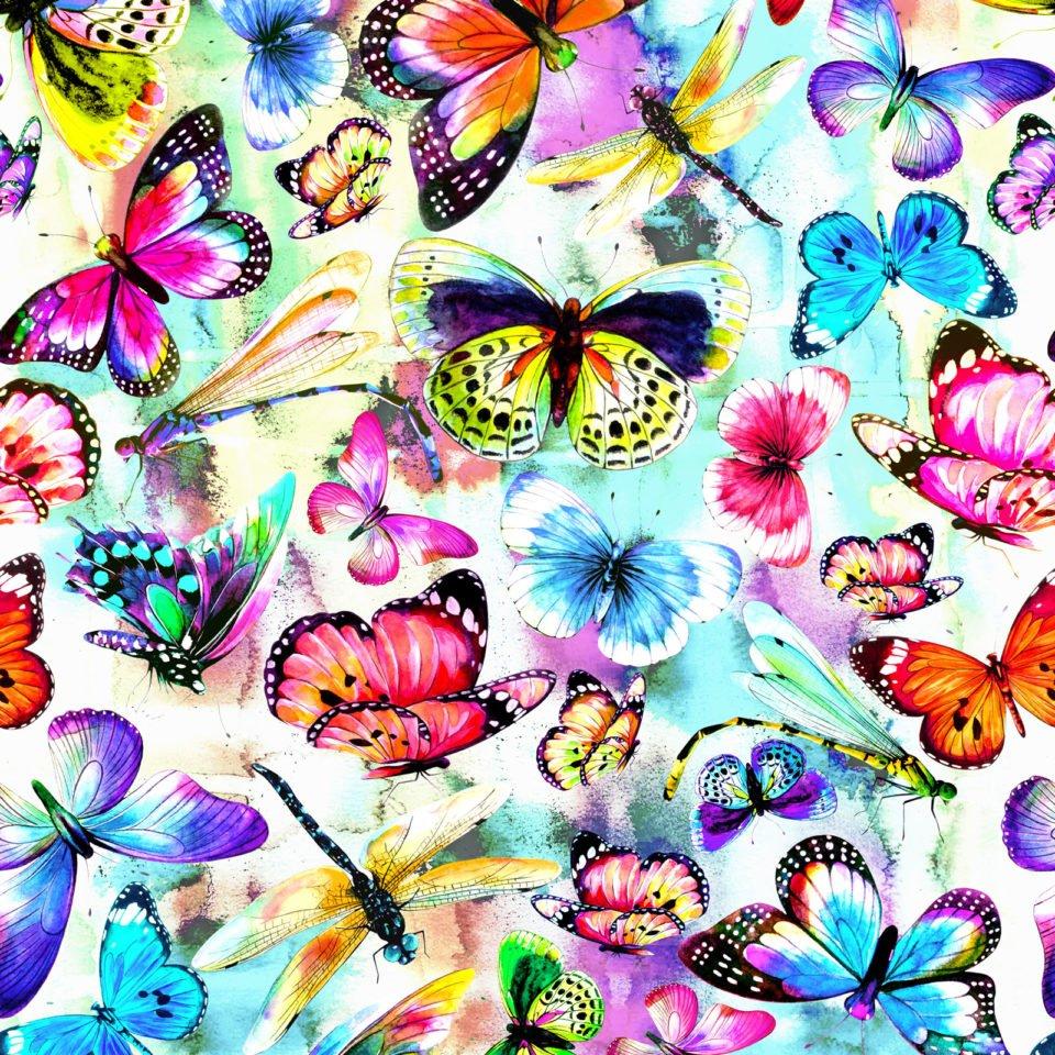 Fantasy Butterfly Digital Multi Fabric 59-19701  - copy