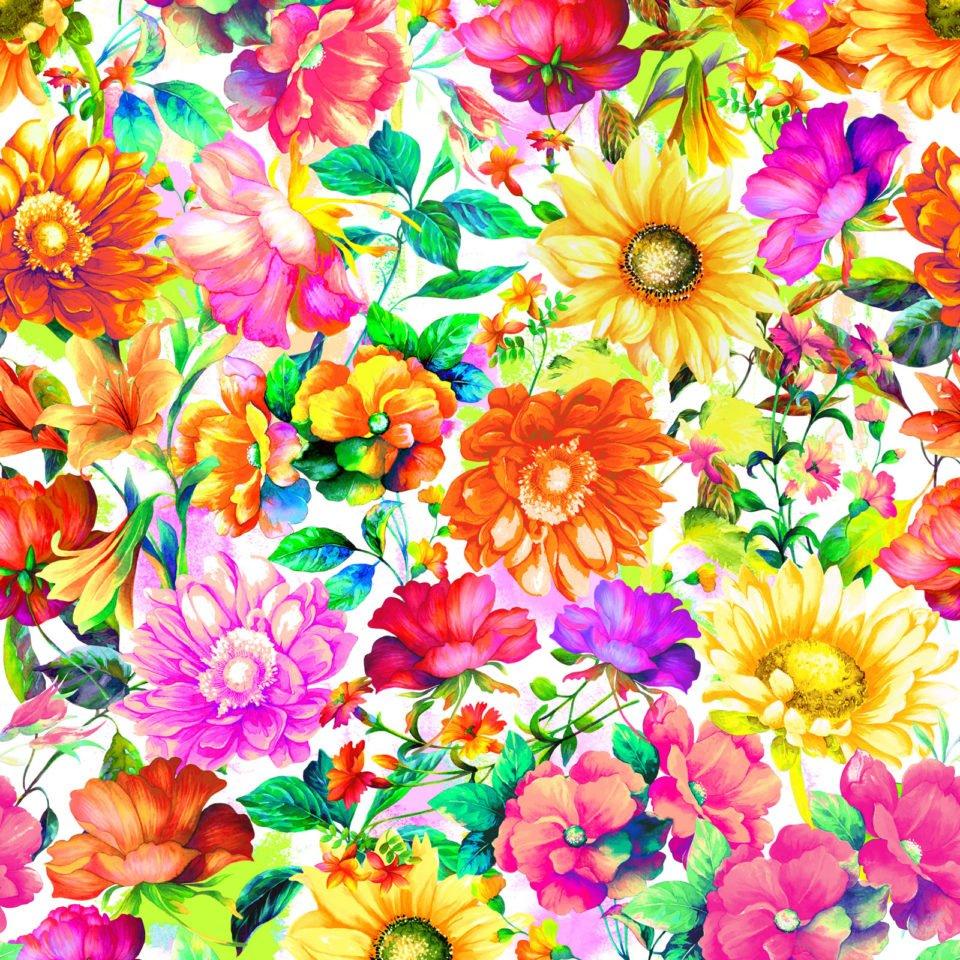 Fantasy Floral Digital Multi Fabric 59-19901