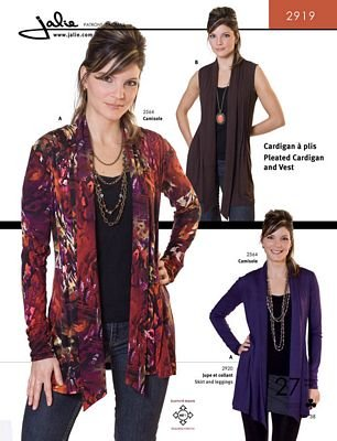 Pleated cardigan and vest