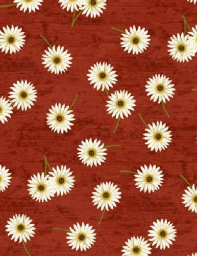 Sunset Blooms Daisies Red 68435-317 Wilmington Prints