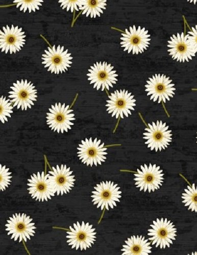Sunset Blooms Daisies Black 68435-917 Wilmington Prints