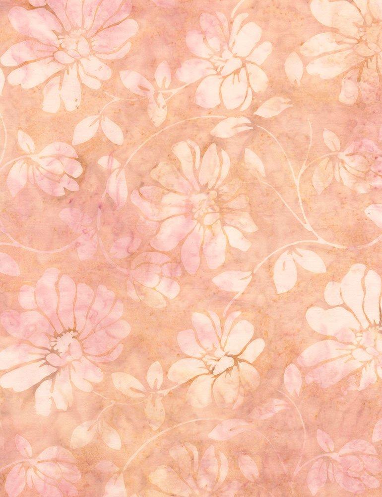 Floral Scroll Batik Tonga-B4434-Blush