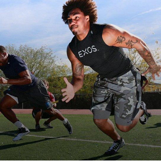 Athletes doing sports performmancce training