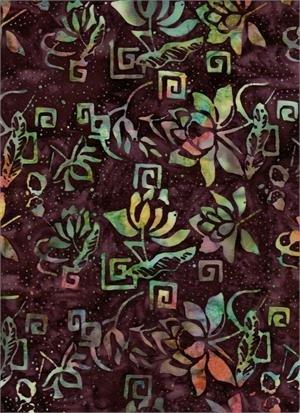 4111 Batik purple multi