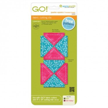 GO! Quarter Square 2 Finished Triangle 55393