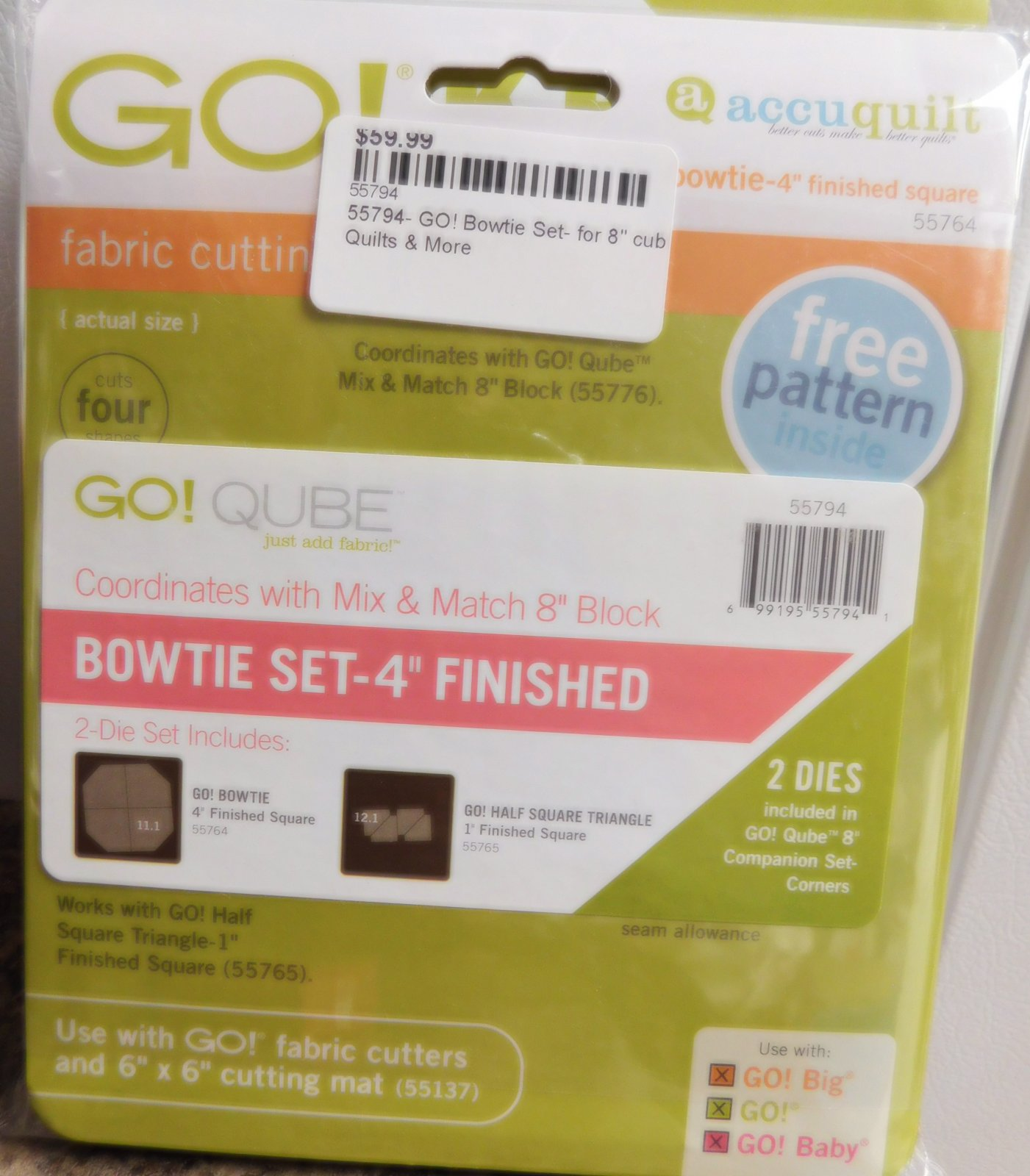 55794- GO! Bowtie Set- for 8 cube