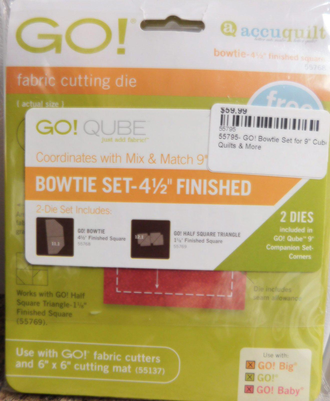 55795- GO! Bowtie Set for 9 Cube