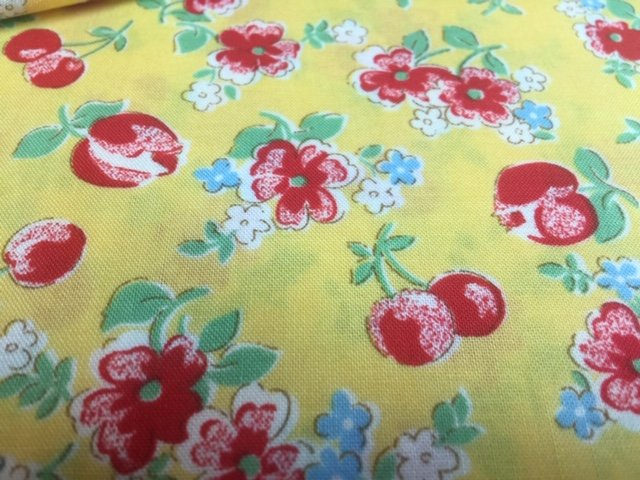 30'S COLLECTION YELLOW RED CHERRIES