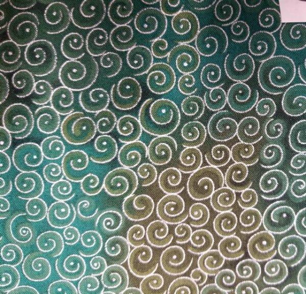 Spirals -red, pink with metallic spirals - copy