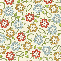 She Who Sews Multi Floral Cream Background