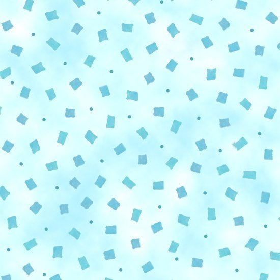 Happy Home Blue on Blue Geometric