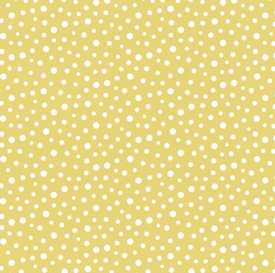 Barnacle Bay Dots - White on Yellow