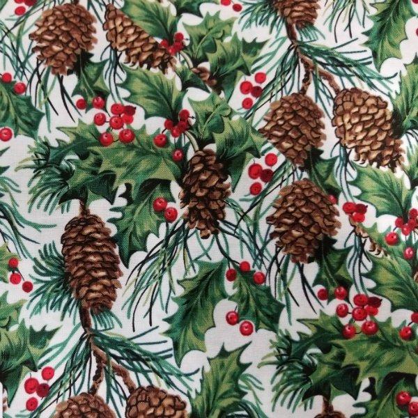Tis the Season - pinecones berries and greenery