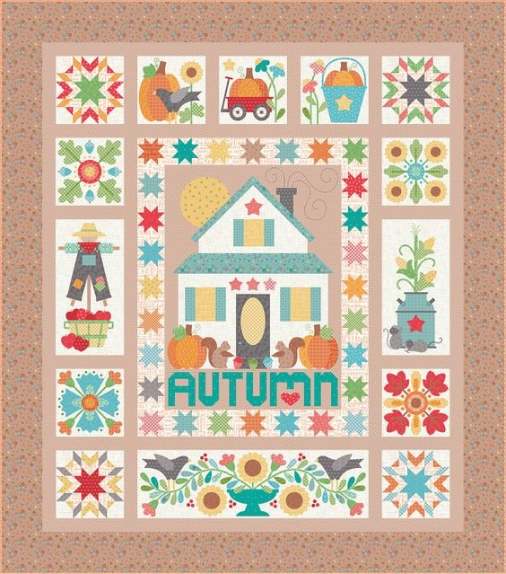 Autumn Love by Lori Holt Kit includes templates