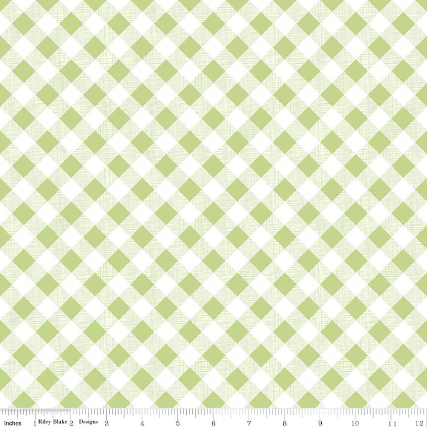 Sew Cherry 2 - Green Gingham