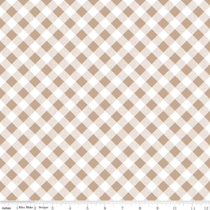 Sew Cherry 2 - Nutmeg Gingham