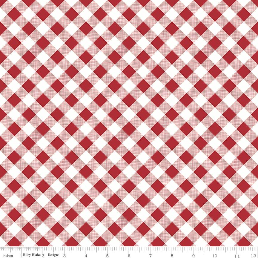Sew Cherry 2 - Red Gingham
