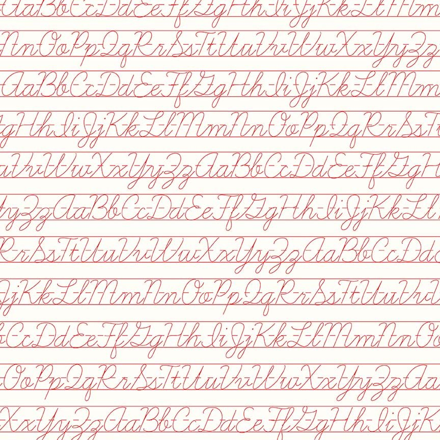 Bee Backgrounds - Penmanship Red