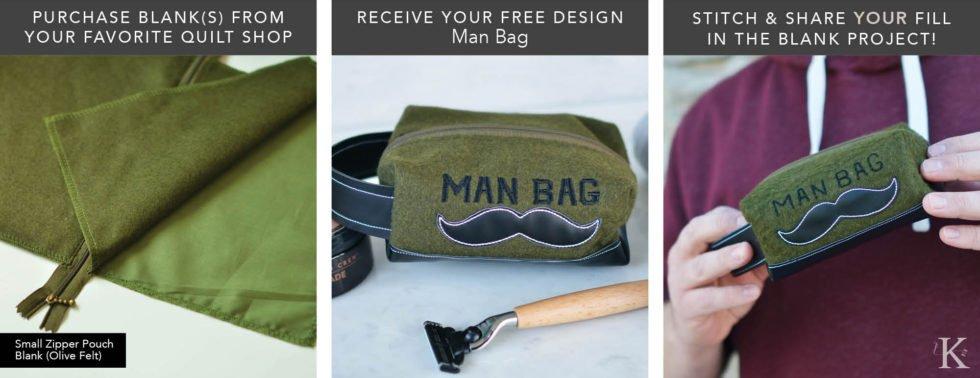 May - Fill In The Blank Man Bag - Kimberbell