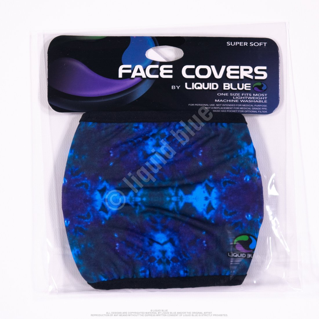 Masks - Liquid Blue Face Coverings