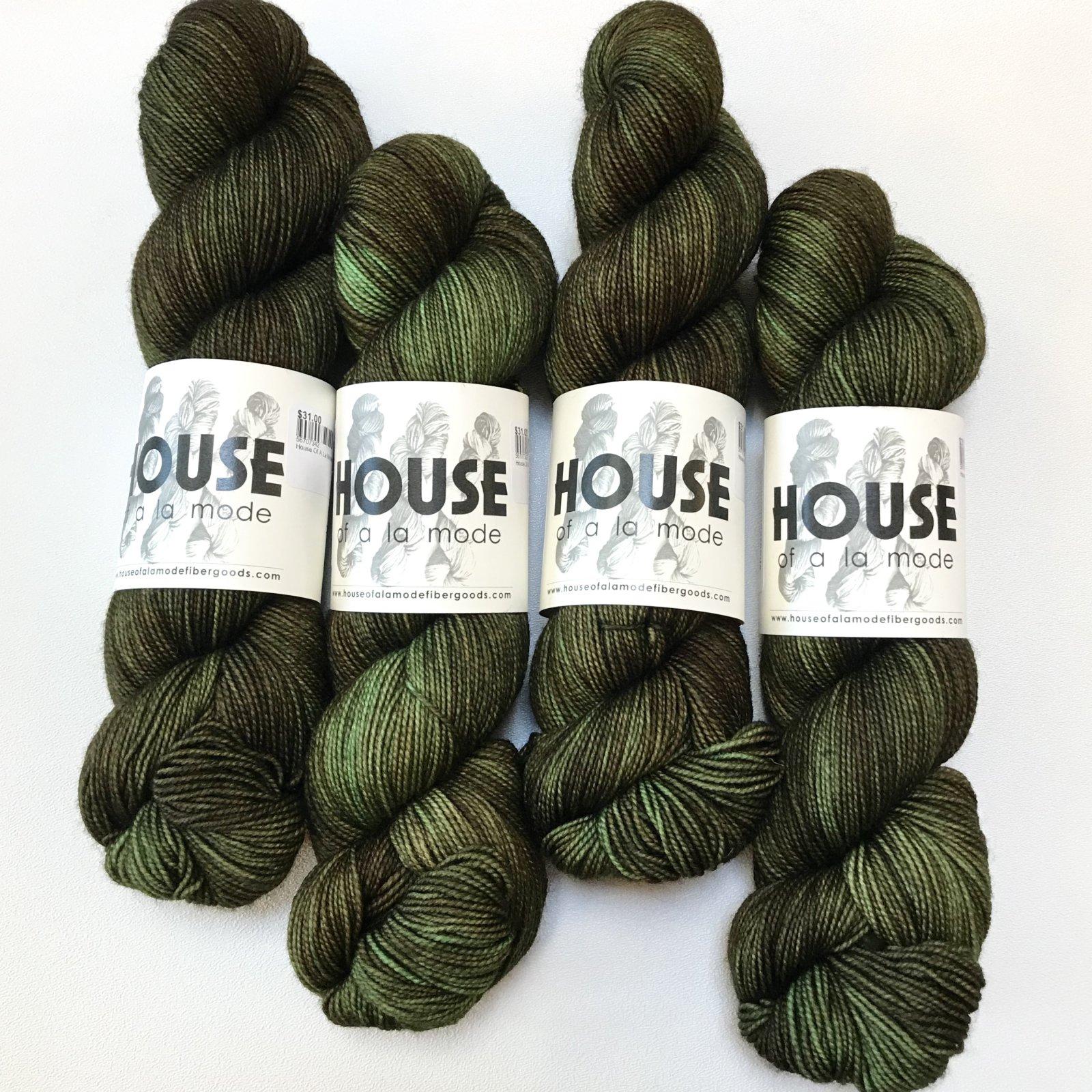 House Of A La Mode House Fingering - Moss