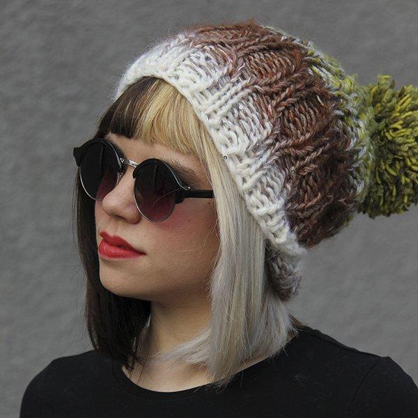 Icelandic Slouchy Hat Pattern - PDF