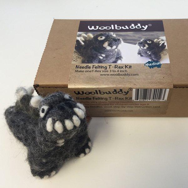 Woolbuddy Felting Kit Small - T Rex