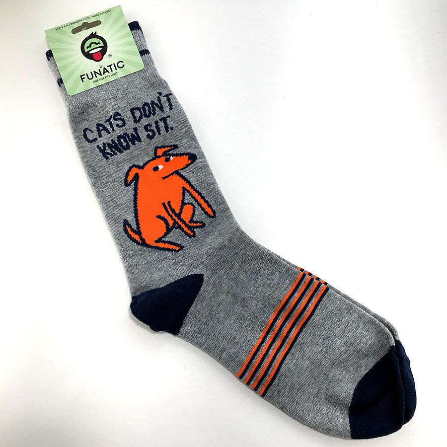 Funatic Socks - Cats Don't Know Sit
