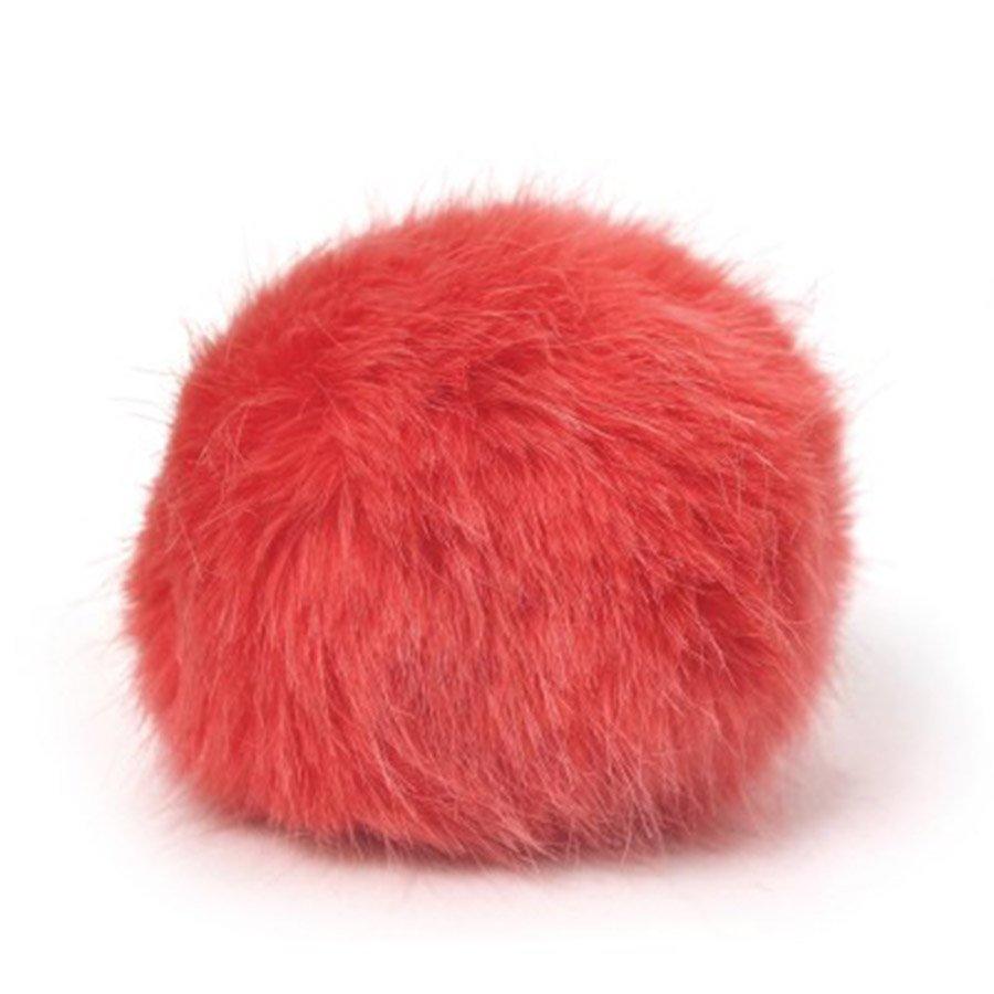 Bernat Faux Fur Pompom - Coral
